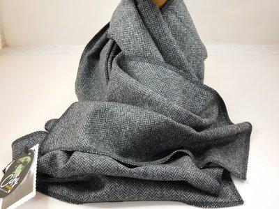 City Sport sjaal tweed visgraat grijs
