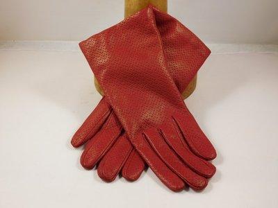 Cardei dameshandschoen klassiek pinhole rood