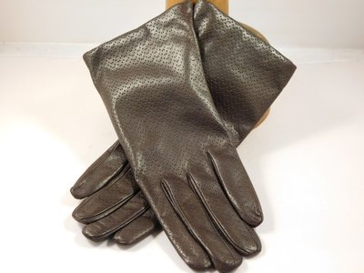 Cardei dameshandschoen klassiek pinhole bruin