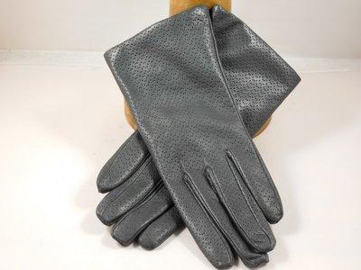 Cardei dameshandschoen klassiek pinhole grijs