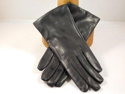 Cardei dameshandschoen klassiek pinhole zwart