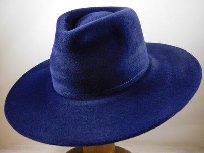 Weba '9100' Bogarthoed verlourvilt nacht blauw