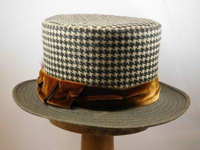 Hoge hoed Alfonso D'Este Pied de Poule