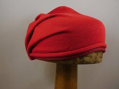Bedacht Katoenen Beanie / Twotone rood