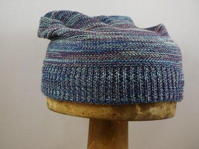Bedacht zomermuts stripes blauw bordeaux