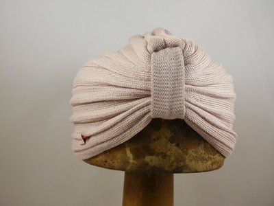 Bedacht zomer turban nude roze
