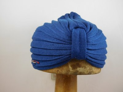 Bedacht zomer turban kobalt blauw
