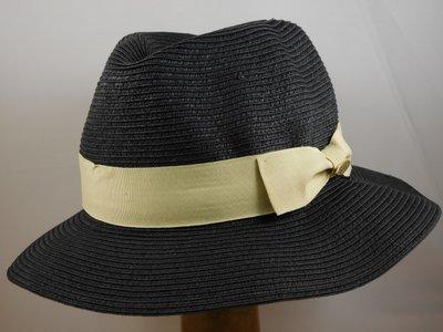 Bronte zomerhoed Josephine / Zwart met creme