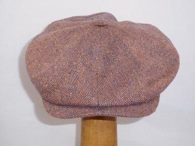 Ballonpet Stetson 'Hatteras' Silk  Visgraat bordeaux