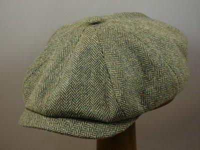 Ballonpet Stetson 'Hatteras' Silk Visgraat groen