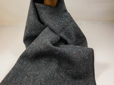 City Sport Pure New Wool Sjaal / Antractiet spikkel