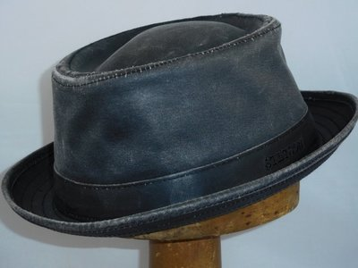Stetson weathered cotton Porkpie zwart