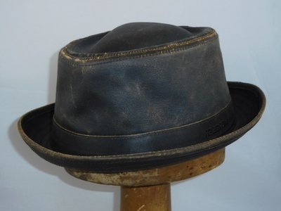 Stetson weathered cotton Porkpie bruin