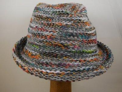 Bedacht Gebreide Trilby / Multicolor grijs