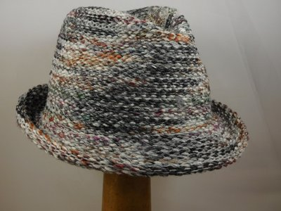 Bedacht Gebreide Trilby / Multicolor taupe