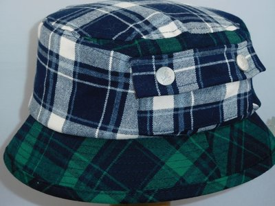 Kangol 'Tartan Bucket' plaid on plaid