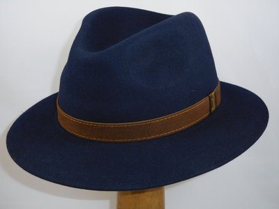 Borsalino Alessandria navy blauw 'New Outdoor model'