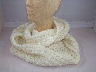 Seeberger gebreide loop sjaal / Gebroken wit