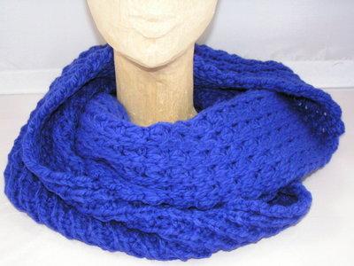 Seeberger gebreide loop sjaal / Kobaltblauw