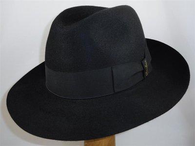 Borsalino Bogarthoed 'Qualita Superiore Melusine' zwart