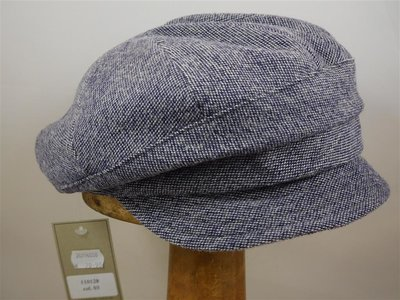 Bedacht damespet tweedspikkel paars blauw
