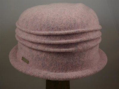 Seeberger cloche ribbels roze
