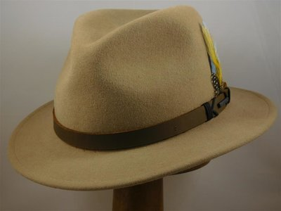 Stetson outdoorhoed smalle rand naturel