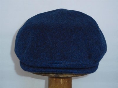 Borsalino Klassieke Pet blauw Cashmere