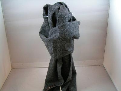 Alfonso D'Este Cashmere Sjaal visgraat ANTRACIET