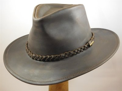 Stetson 'Buffalo' outdoorhoed leder brown