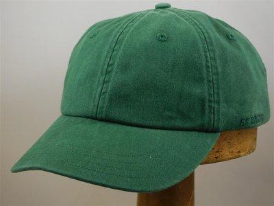 Stetson 'Rector' Cotton Baseballcap groen