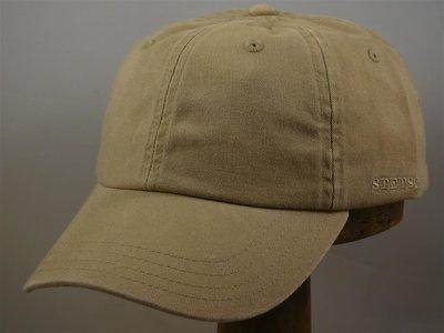Stetson 'Rector' Cotton Baseballcap donker naturel
