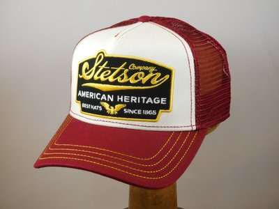 Stetson baseballcap Heritage bordeaux and gold
