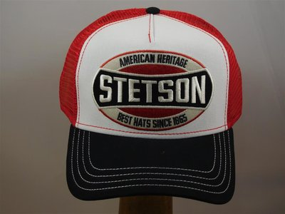 Stetson baseballcap red white and black
