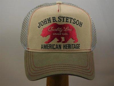 Stetson baseballcap Heritage Bear