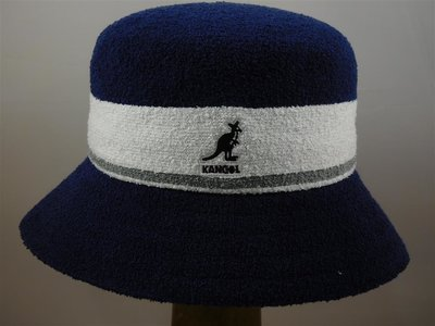 Kangol Bermuda Stripe Bucket / Navy White