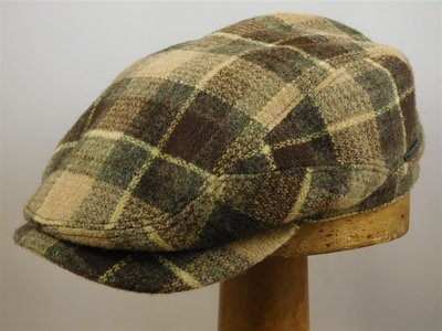 Stetson ivypet 'Driver' grote ruit groen