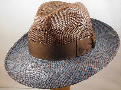 Borsalino Panama Bogart 'semi ventilato' bruin blauw