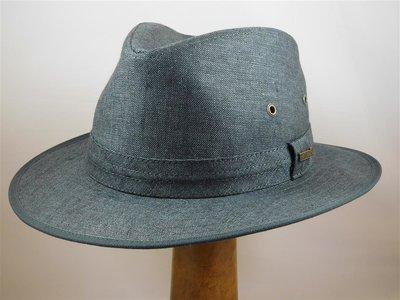 Hatland 'Skeeter Linen' Zomerhoed / Jeansblauw