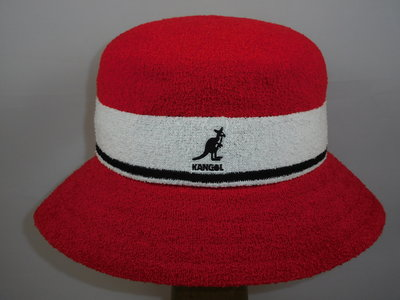 Kangol Bermuda Stripe Bucket / Red White