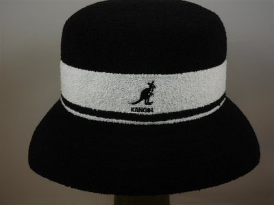Kangol Bermuda Stripe Bucket / Black White