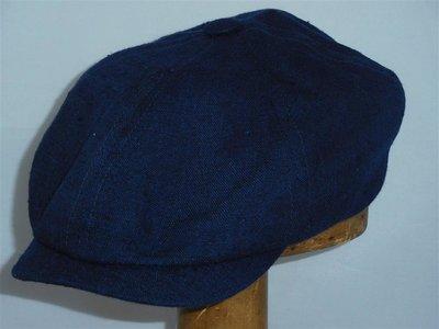 Stetson ballonpet '6 panel' linnen/zijde blauw