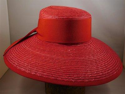 Bedacht zomerhoed oversized Mateloo rood