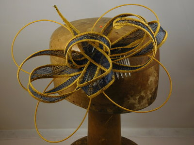 Haarversiering 'Eigen Atelier' brimwire navy goud