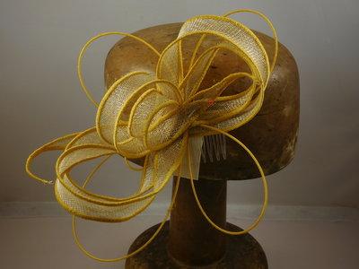 Haarversiering 'Eigen Atelier' brimwire naturel goud