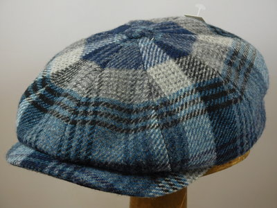 Stetson 'Hatteras' Woolrich ruit blauw