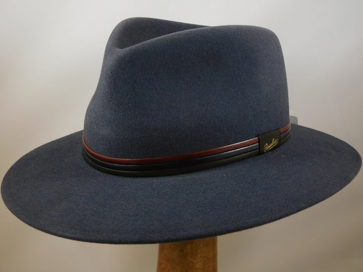 Borsalino 'Country' tricolor band / Grijsblauw