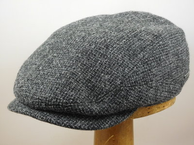 Stetson 'Driver' tweed wol / grijs