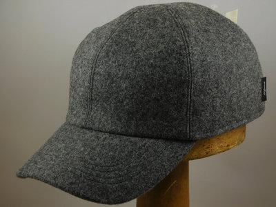 Wigens Baseballcap met oorklep / Wol grijs mix
