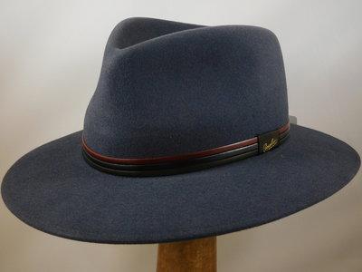 Borsalino 'Country' tricolor band / Grijsblauw